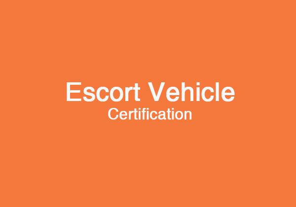 Escort Vehicle Certification